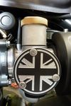 Bonneville T120, Thruxton 1200 TPS Union Flag Cover Kit (2 Covers) Throttle Position Sensor Covers.